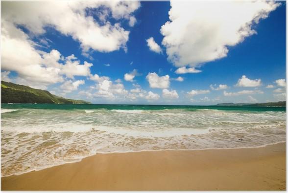 Plakát Karibik osamělý krásná pláž - Voda