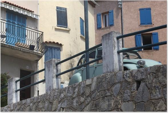 Plakát Klasické francouzské auto. Klasické francouzské horské vesnice. Callas. - Evropa