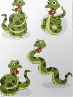 Plakat Legracni Kresleny Had Vektorove Ilustrace Pixers