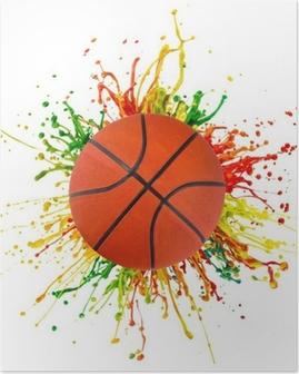 Plakat Kolorowe powitalny z sport piłkę