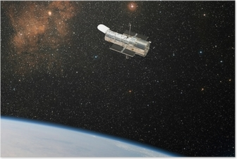 Plakat Kosmiczny Teleskop Hubble'a zauważa głęboką przestrzeń.