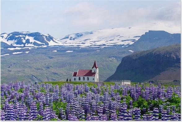 Plakát Kostel hor a lupiny - Zemědělství