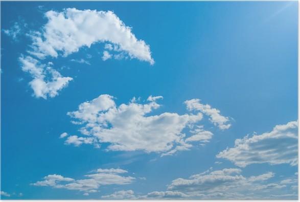 Plakát 青 空 大 空 自然 Krásná modrá obloha s mraky - Nebe
