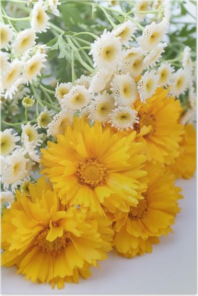 Plakát Krásné divoké květiny, zblízka - Květiny