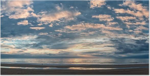Plakát Krásný západ slunce nad Atlantského oceánu - Nebe