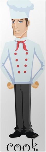 Plakát Kreslená postavička - kuchař - Lidé v práci