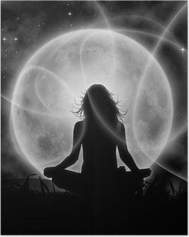 Plakat Księżyc medytacja