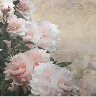 Plakat Kwiatów projektowania piwonie