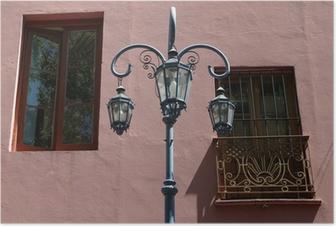 Plakat Lampy i szyby wzdłuż Caminito Boca