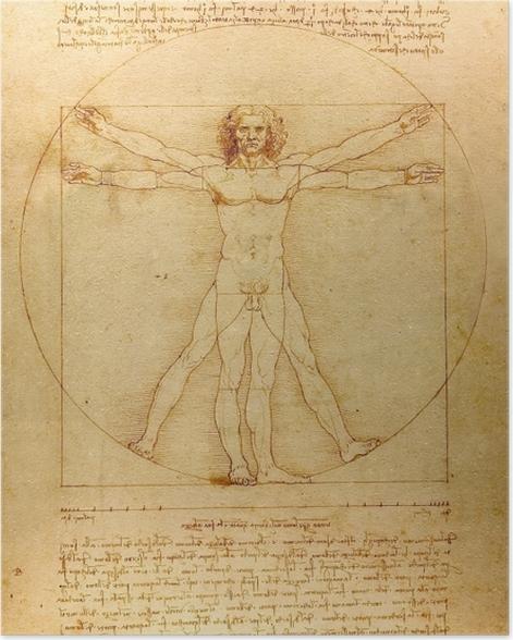 Plakat Leonardo da Vinci - Człowiek witruwiański - Reprodukcje