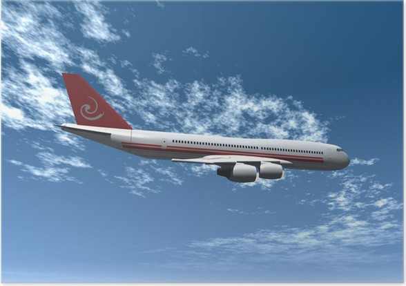 Plakát Letadlo - Vzduch