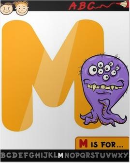 Plakat Litera M z monster kreskówki
