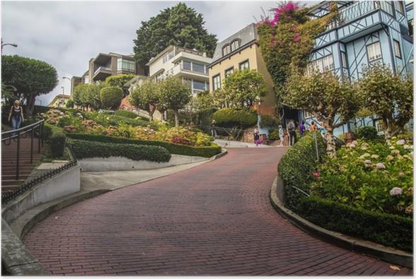 Plakát Lombard Street v San Francisku - Americká města