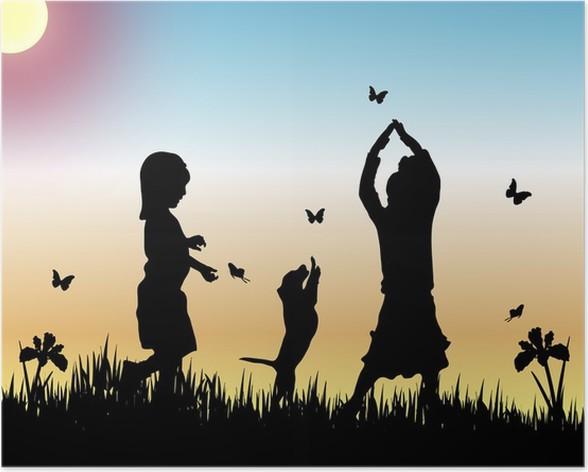Plakát Lov motýlů - Zábava