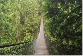 Plakat Lynn valley wiszący most
