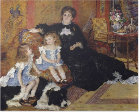 Plakat Madame Georges Charpentier and Her Children, Georgette-Berthe and Paul-Émile-Charles - Impresjonizm