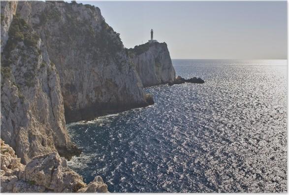 Plakát Maják na ostrově Lefkada, Jónské moře, Řecko - Evropa