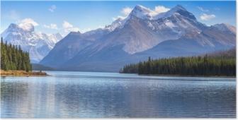 Plakat Maligne jezioro