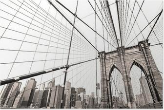 Plakat Manhattan Bridge, New York City. USA.