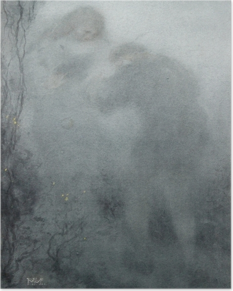 Plakat Matthijs Maris - Postaci w lesie - Reproductions