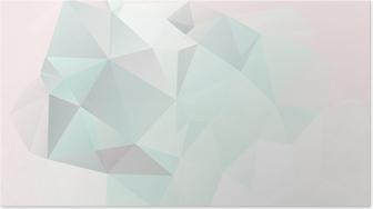 Plakat Miękkie pastelowe tło abstrakcyjna geometrycznej wektora gradienty