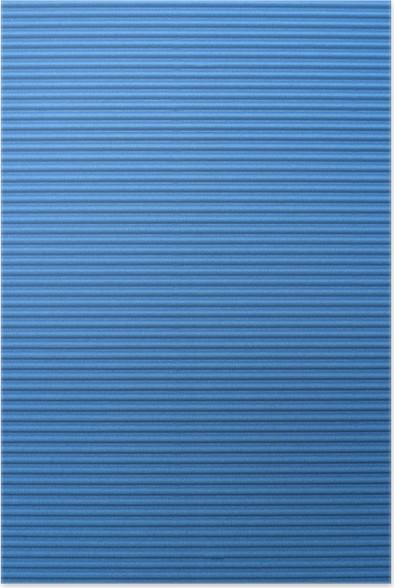 Plakát Modrý vlnitý barevný papír pozadí - Pozadí