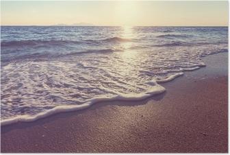 Plakat Morze zachód słońca