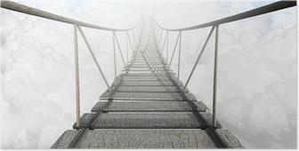 Plakat Most linowy nad chmurami