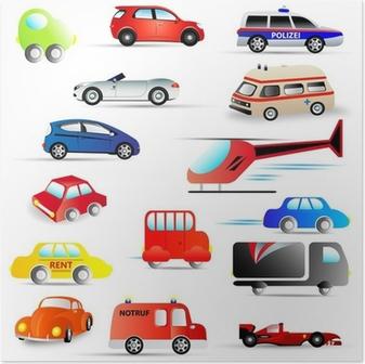 Plakát Motorová vozidla - sada