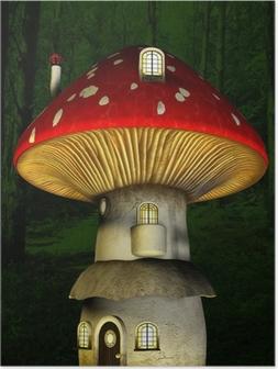 Plakat Mushroom fairy house