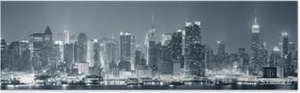 Plakat New York City Manhattan w czerni i bieli