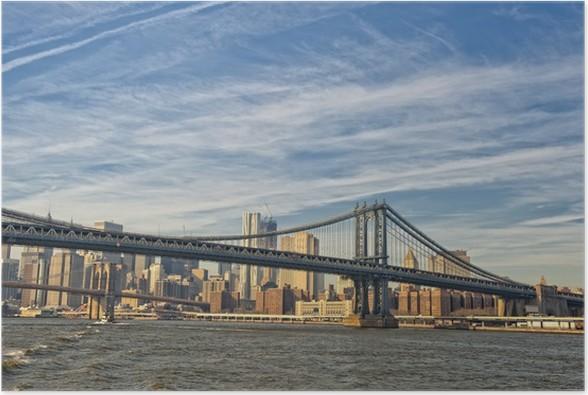 Plakát NEW YORK pohled z Brooklyn Bridge - Infrastruktura