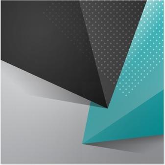 Plakat Niebieski i czarny abstrakcyjny wzór tła