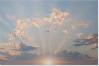 Plakat Niebo i chmury