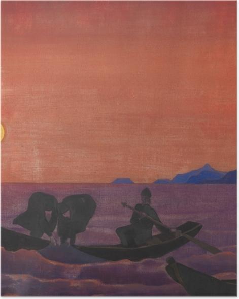 Plakat Nikołaj Roerich - A my nadal łowimy - Nicholas Roerich
