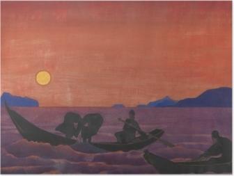 Plakat Nikołaj Roerich - A my nadal łowimy