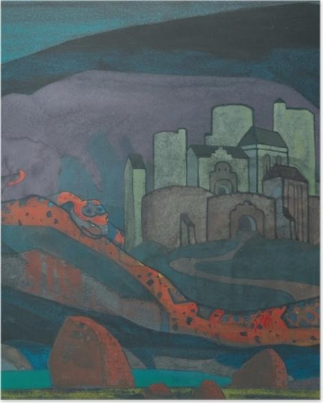 Plakat Nikołaj Roerich - Potępione miasto - Nicholas Roerich