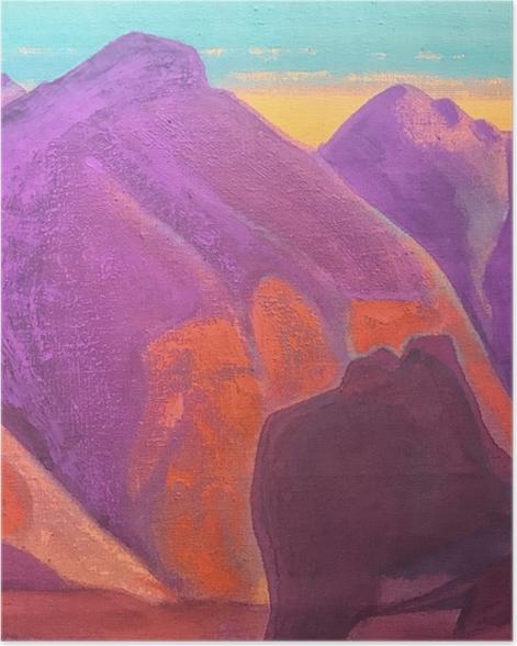 Plakat Nikołaj Roerich - Studium gór II - Nicholas Roerich