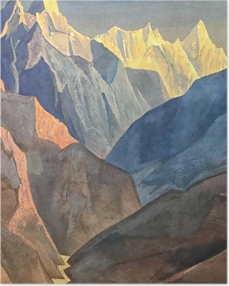 Plakat Nikołaj Roerich - Studium gór - Nicholas Roerich
