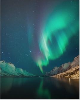 Plakat Northern Lights w Norwegii