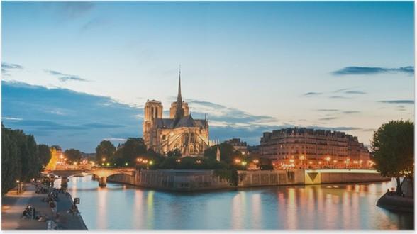 Plakát Notre Dame, Paříž - Evropská města