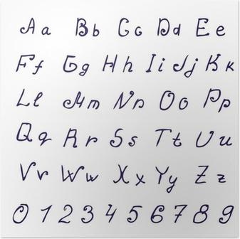 Odręczne Alfabet Atrament