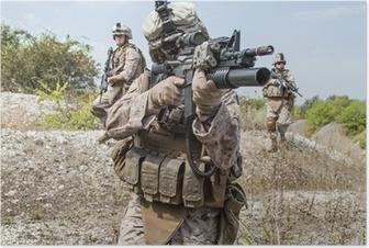 Plakat Operacja wojskowa