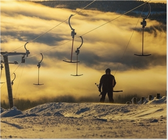 Plakat Ośrodek narciarski