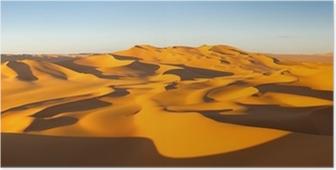 Plakat Panorama Desert - Wydmy - Murzuq Pustynia, Sahara, Libia