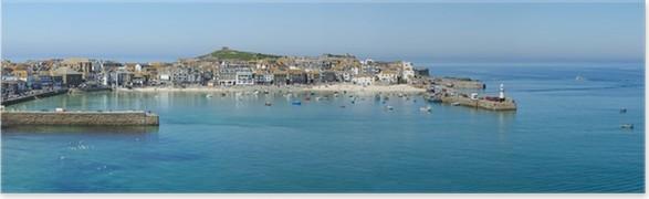 Plakát Panoramatický pohled St. Ives přístavu v Cornwallu ve Velké Británii. - Evropa