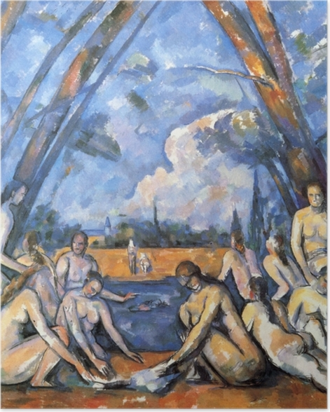 Plakat Paul Cézanne - Kąpiące się - Reprodukcje
