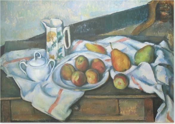 Plakat Paul Cézanne - Martwa natura z brzoskwiniami i gruszkami - Reprodukcje