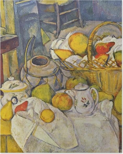 Plakat Paul Cézanne - Martwa natura z koszem - Reprodukcje