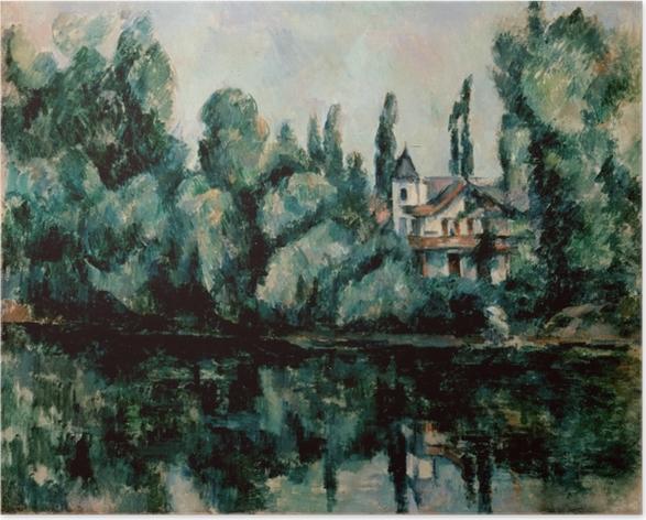 Plakat Paul Cézanne - Nad brzegiem Marny - Reprodukcje